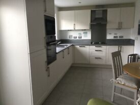 German kitchen units,sink,gas hob and extractor