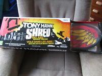 Tony Hawk Shred Wii game and skateboard controller