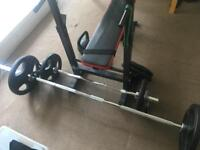 Olympic weights & bench package ONLY £300