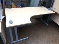 180cm Maple Corner L Shaped Office Desk - 80 Available - Left & Right Handed