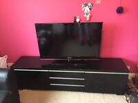 Black high gloss TV cabinet and storage