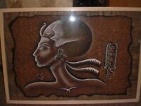 Egyptian Papyrus - framed with certificate