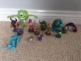 Disneys Monsters Inc & University figures