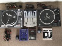 Vestax Turntables and Mixer set for sale