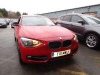 BMW 1 SERIES 118i Sport 5dr [Business Media] (red) 2014