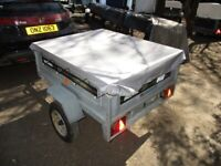 DAXARA 137 TILTBED / DROPTAIL (450KG) GOODS TRAILER WITH COVER......