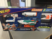 New Nerf guns. TriStrike Hyperfire Recon