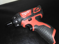 Brand New Milwaukee Hex Screwdriver M12BSD + BATTERIES & CHARGERS