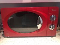 Swan Microwave, Category D (750 Watts), Red colour