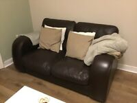 John Lewis Leather Sofa & Chair Set