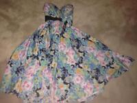 Vintage floral dress, size 8-10