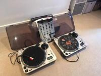 Numark Pro TT-1 decks x2 plus mixer