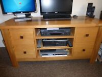 TV Unit and Lamp table, solid Oak
