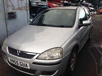 2005 Vauxhall Corsa C 1.2 16v SXi 3dr silver z 157 2au BREAKING FOR SPARES