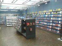 EX DVD rental shelving.