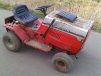RIDE ON LAWN MOWER NO DECK TRACTOR RUNS DRIVES STABLES FARMER GO CART CHEAP PETROL