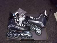 Bauer vapour size 2 inline hockey skates