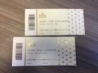 2 x Royal Ascot £100 - Queen Anne Encl. Saturday 23 June
