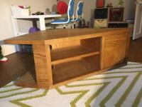 Solid Wood Handmade Corner TV unit