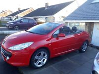 Peugot 307cc Red, Manual,2.0L Diesel