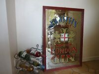 BOOTH'S GIN PUB MIRROR - LARGE -