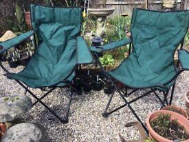 Folding chairs x2