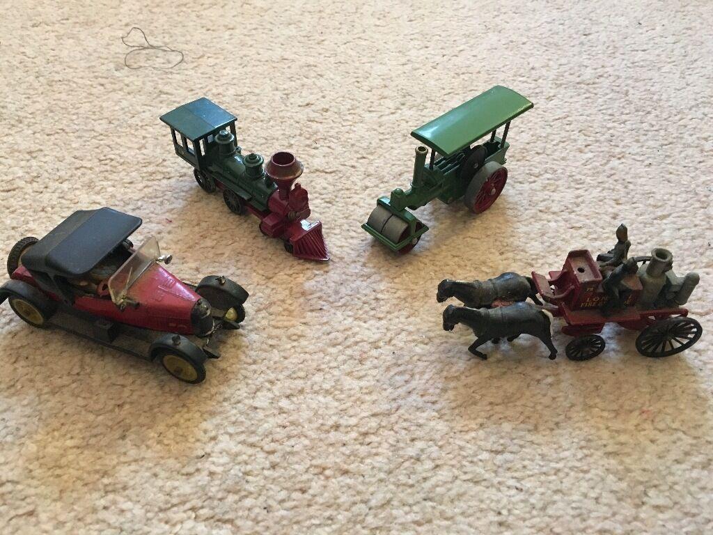 4 Lesney Matchbox Tri-Ang Vintage Toy Cars Trains