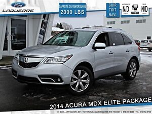 2014 Acura MDX **ELITE PACKAGE*AWD*CUIR*TOIT*NAVI*DVD**