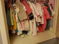 Loads of girls winter coats sleepsuits and dresses also some unisex
