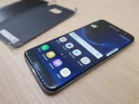 Samsung Galaxy S7 Edge Great condition Black Unlocked With Full Case