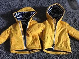 Twin boys coats 6-9 months