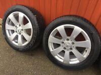 Mercedes benz 4 x 16 alloys wheels set came off 2010 c class