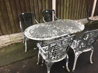 Joblot Reclaimed Cast Alloy Patio Furniture Tables & Chairs -- Can Deliver