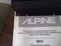 Amplfier. Alpine