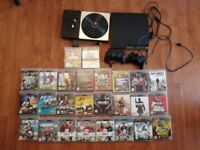 Playstation 3 Slimline 250GB PS3 Console Bundle + 2 controllers + 26 games + DJ Hero Deck (not PS4)