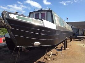 70ft 1980 Traditional narrowboat - Recent overplate and BSS