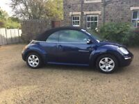 VW Beetle 2007 Convertible Luna 1.4ltr in Blue