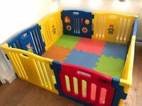 Plastic Baby Playpen with Activity Panel