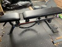 Commercial adjustable weights bench