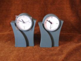 Quartz Mantle Clocks 2 No. - Emerald Green - Bargain Price