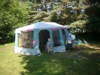 Raclet trailer tent - 4 birth unit with awning and kitchen unit.