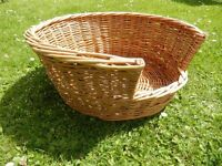 Wicker Dog or large cat Basket - great condition - must be seen
