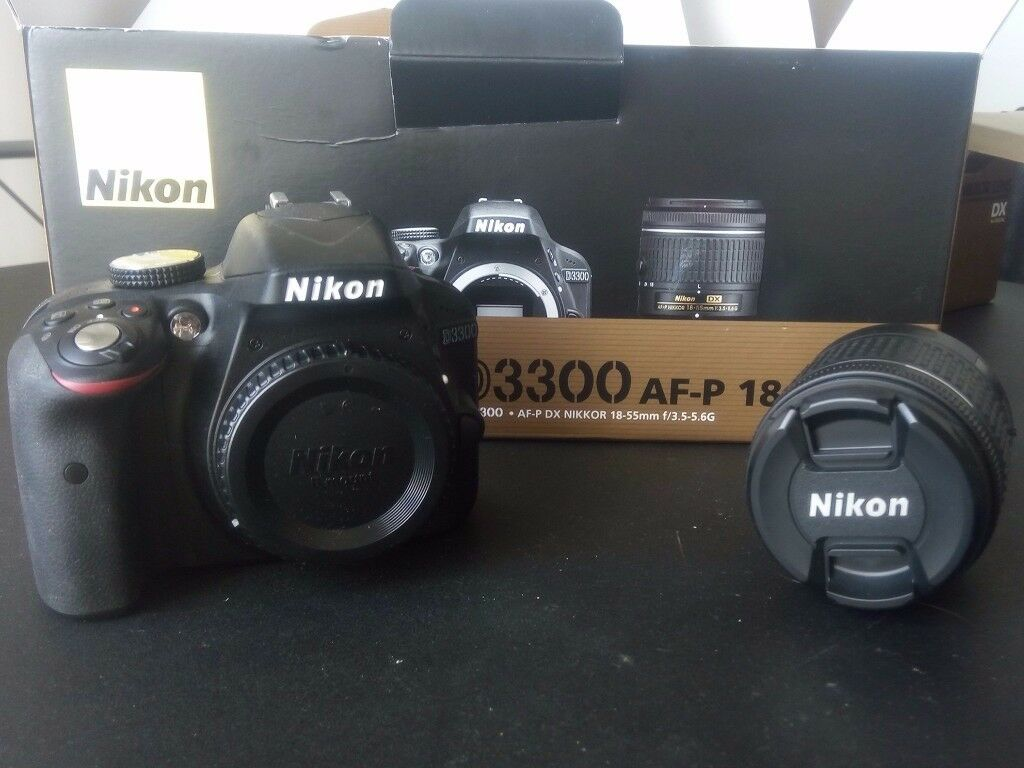 NIKON - D3300 DSLR Camera, 2 Lenses, Case, Additional Batteries, Memory Card - PERFECT CONDITION