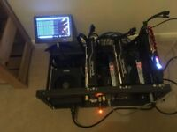 Crypto Mining rig (2 x saphire rx570 + 1 x msi rx480)