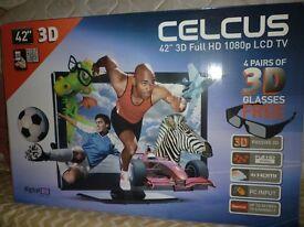 "CELCUS 42"" 3D TV"