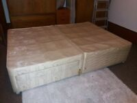 Double divan bed base - free