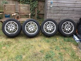 Ford wheels focus alloys plus good tyres x4 195/60/r15