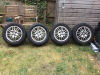 Ford Focus alloy wheels plus good tyres x4 195/60/r15