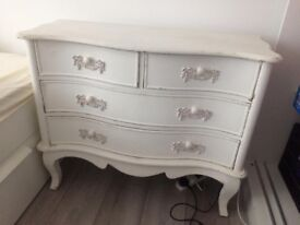 white decorative lovely chest of drawers