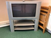 """JVC 32"""" TV with stand and remote control"""